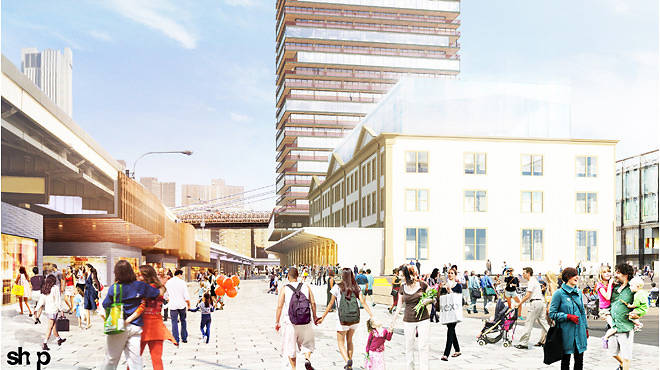 Rendering of the South Street Seaport's Pier 17