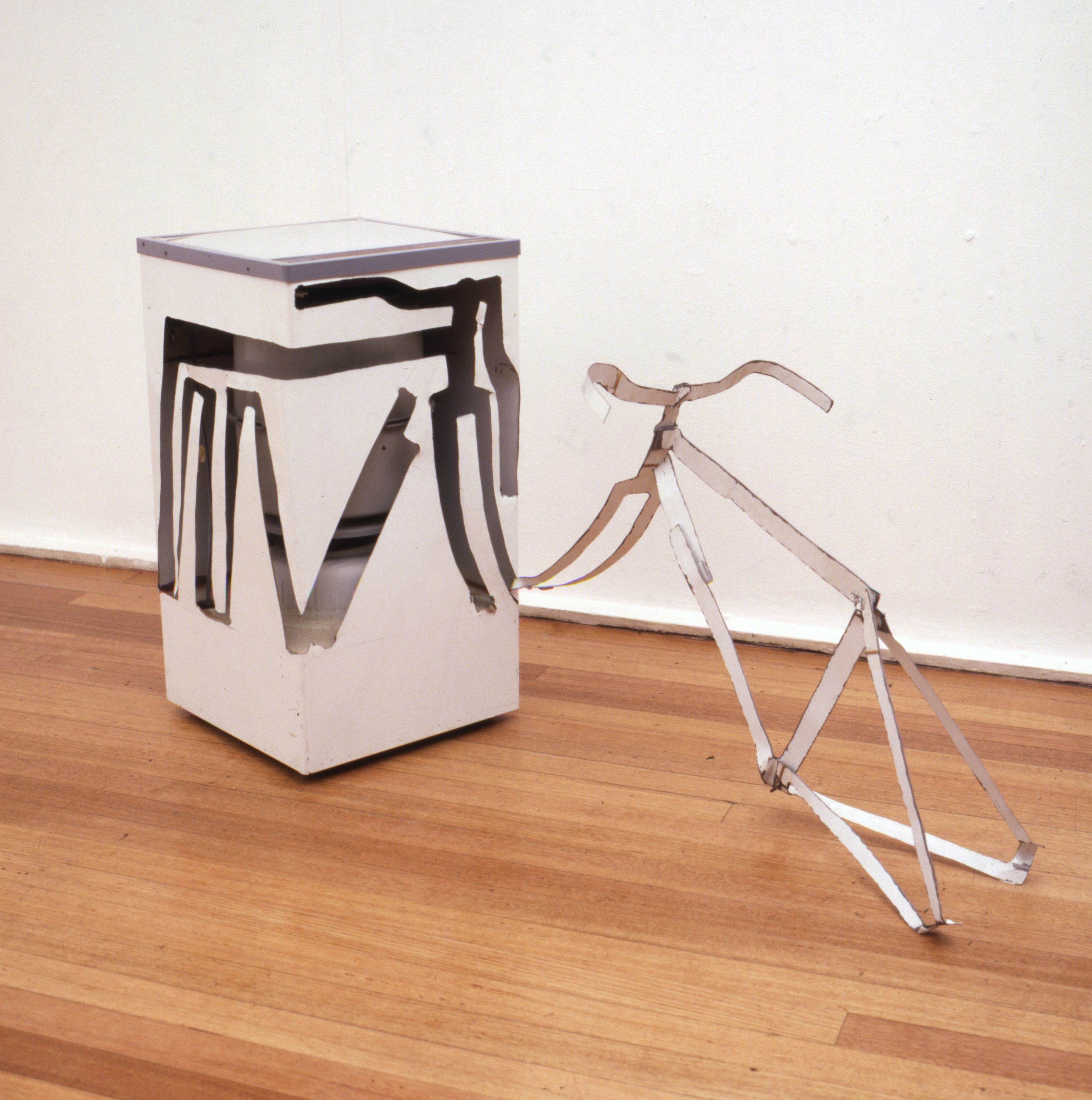 'Spin Dryer with Bicycle Frame Including Handlebars', 1981