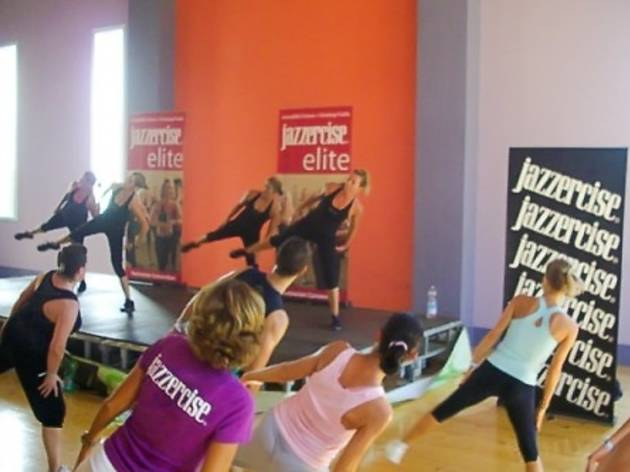 Jazzercise group fitness class