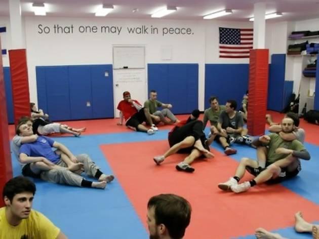Beginner-level Krav Maga training