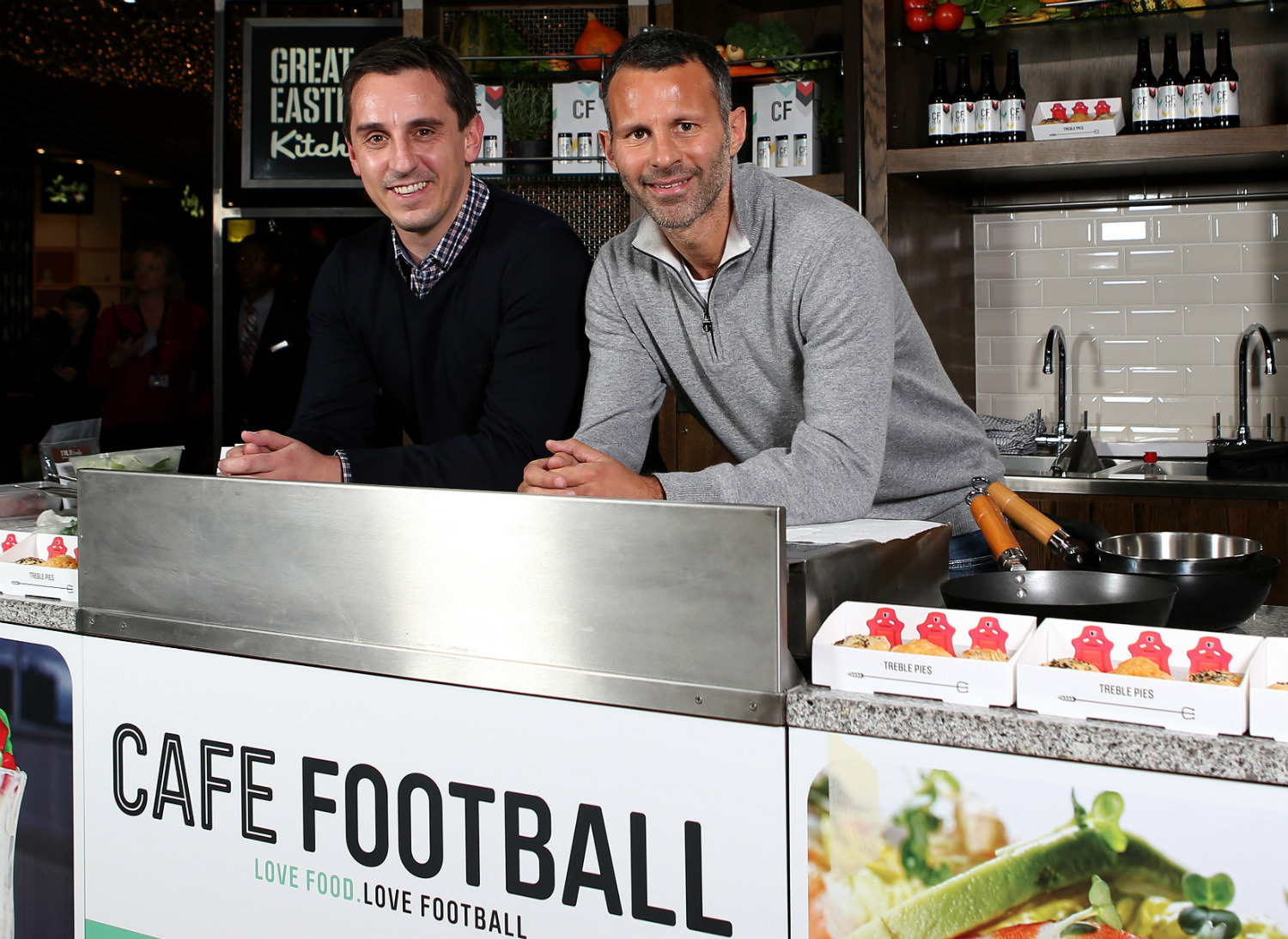 Gary Neville and Ryan Giggs at Café Football