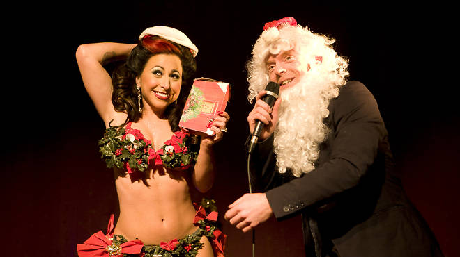 Angie Pontani at the Burlesque-A-Pades holiday spectacular