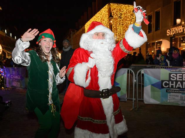 South Street Seaport's Santa Claus