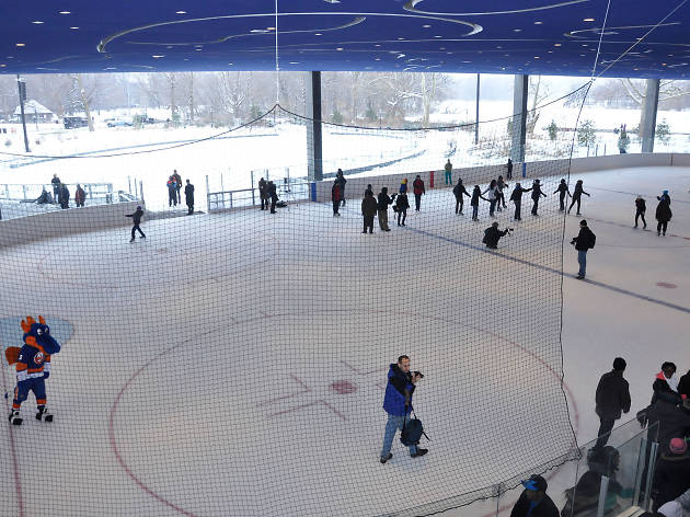 Ice-skating at the LeFrak Center