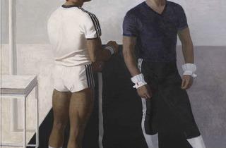 Mikhail Izotov ('Gymnasts. Portrait of Vladimir Artemov and Yury Korolyov', 1987)