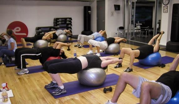 Kettlebell-and-ball workout