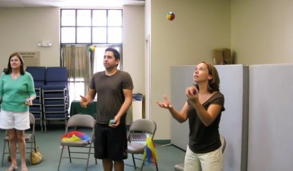 Beginning juggling workshop