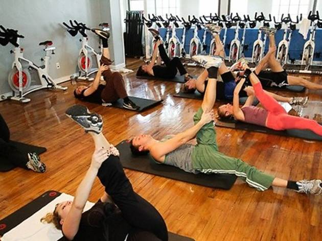 Body-sculpting and spin class