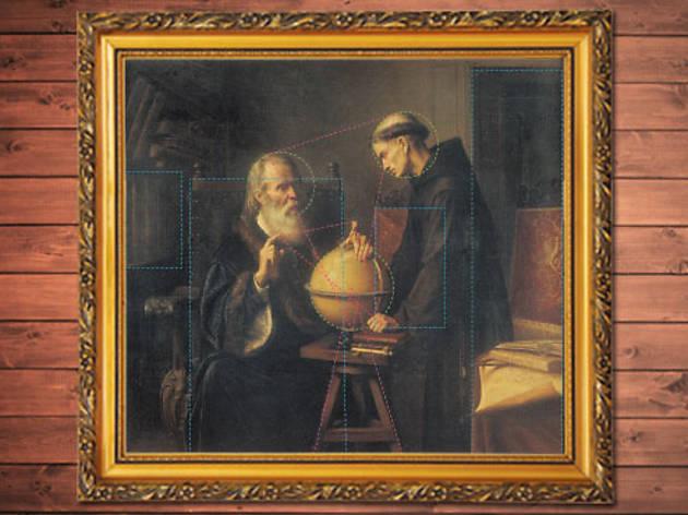 Galileo en la Universidad de Padua demostrando las nuevas teorías astronómicas