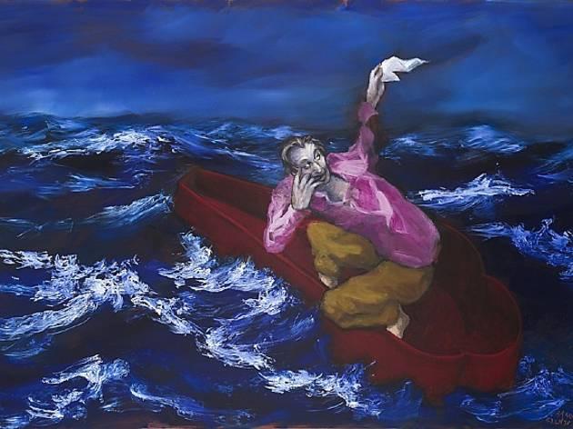 (Gérard Garouste, 'Le Sarcophage', 2012 / Courtesy de la galerie Daniel Templon, Paris)