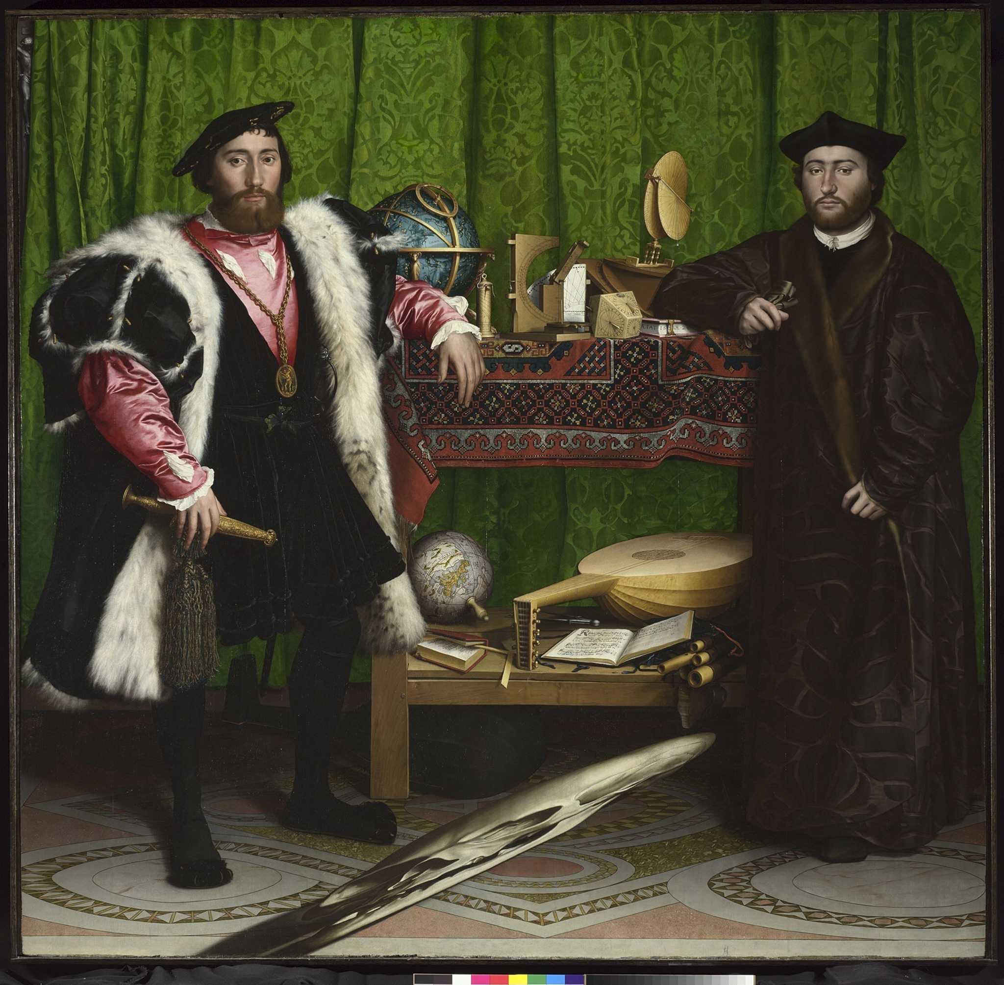 'The Ambassadors' (1533) by Hans Holbein the Younger