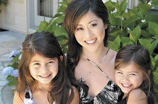 Kristi Yamaguchi and her children