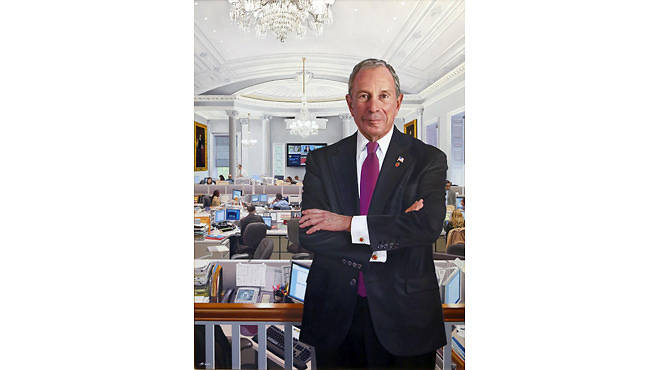 Mayor Michael R. Bloomberg's official City Hall portrait by Jon R. Freidman