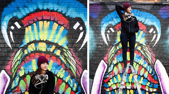 """Vera Times, 27, street artist: """"As long as it's visible and free for the public to enjoy, that's street art."""""""