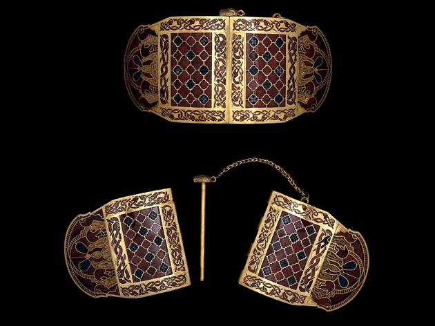 The Sutton Hoo shoulder clasps (© The Trustees of the British Museum)