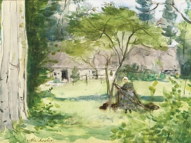 (Berthe Morisot, 'Paysage', 1867 / Collection particulière / Service  presse / musée Marmottan Monet)