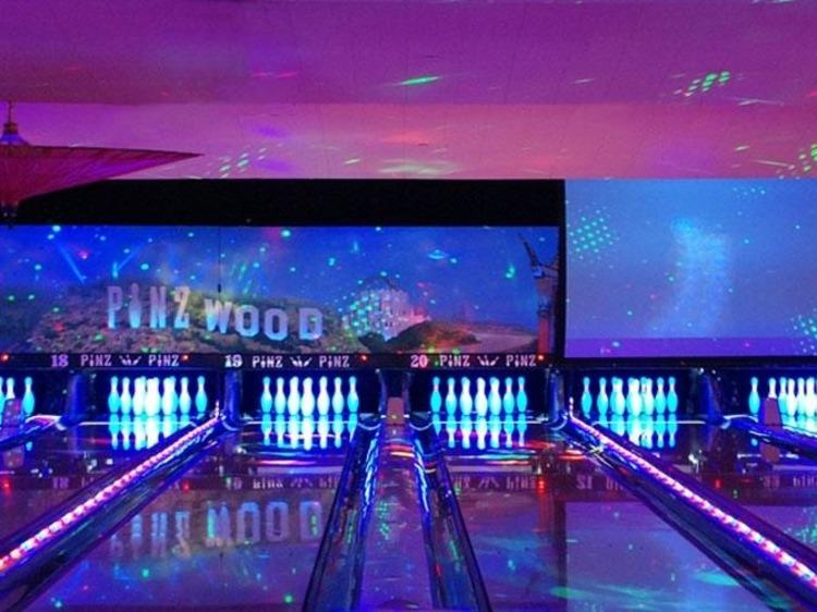 Go bowling at Pinz