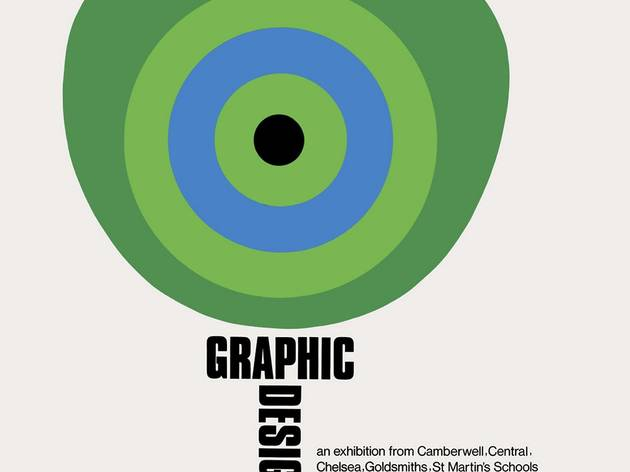 Tom Eckersley (Poster promoting an exhibition of graphic design work from the London art schools, at the Whitechapel Gallery. Inner London Education Authority, 1975)