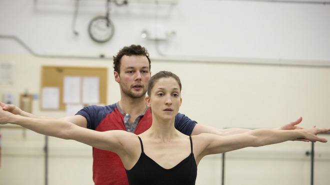 Liam Scarlett rehearses with New York City Ballet