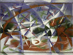 Giacomo Balla, Abstract Speed + Sound (Velocità astratta + rumore), 1913–14
