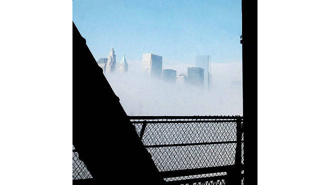 NYC in the fog