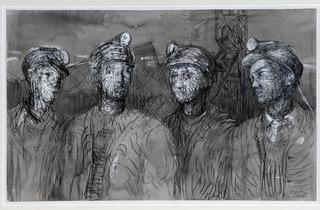Henry Moore ('Pit Boys at Pithead' 1942, courtesy of Hepfield Wakefield and The Henry Moore Foundation)