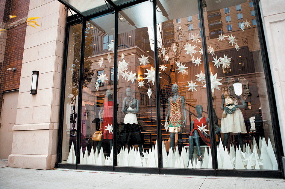 Holiday store window displays 2012
