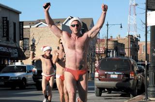 (Photograph: Courtesy of Santa Speedo Run)