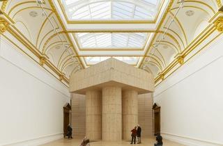 Sensing Spaces at the RA (Installation view of 'Blue Pavilion' by Pezo von Ellrichshausen.)