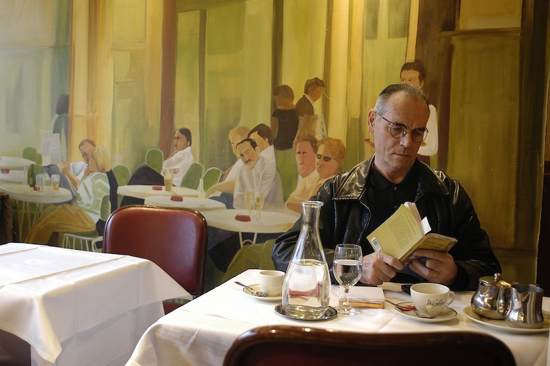 Dining alone in Paris