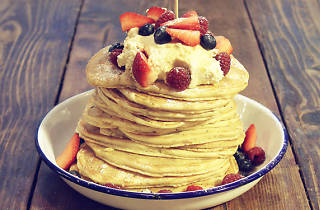 Breakfast Club pancake stack