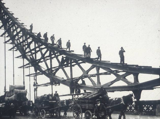 The bridge during construction