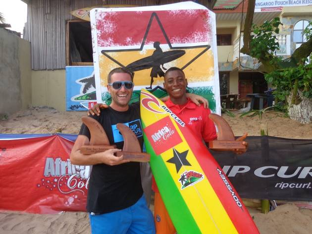 Bebe Ansah 2013 open and junior surf champ