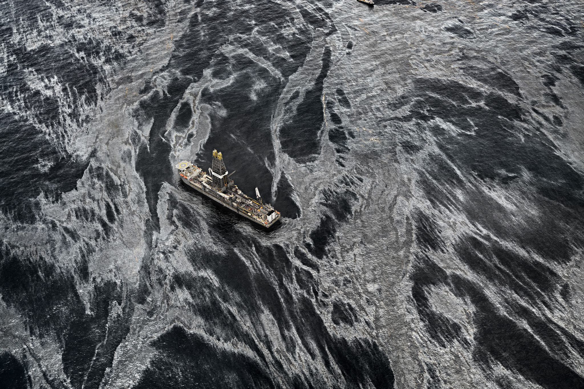 "Discoverer Enterprise, Gulf of Mexico, May 11, 2010; Edward Burtynsky in ""What is a Photograph"" exhibit at ICP-OTU"