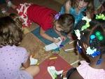 Kids enjoy playtime, er, art time at Lil' Buds.