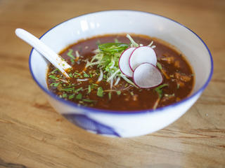 Pozole Soup at Lucky Luna