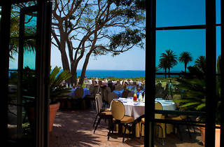 Terranea Resort's outdoor dining terrace.