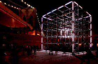 United Visual Artists ('Origin' in New York City, 2011 )