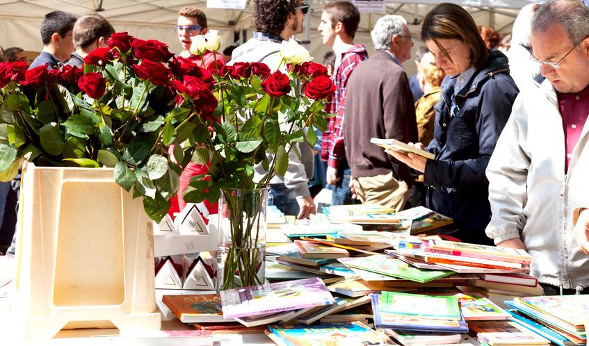 Sant Jordi on La Rambla, Rambla de Catalunya & Passeig de Gràcia