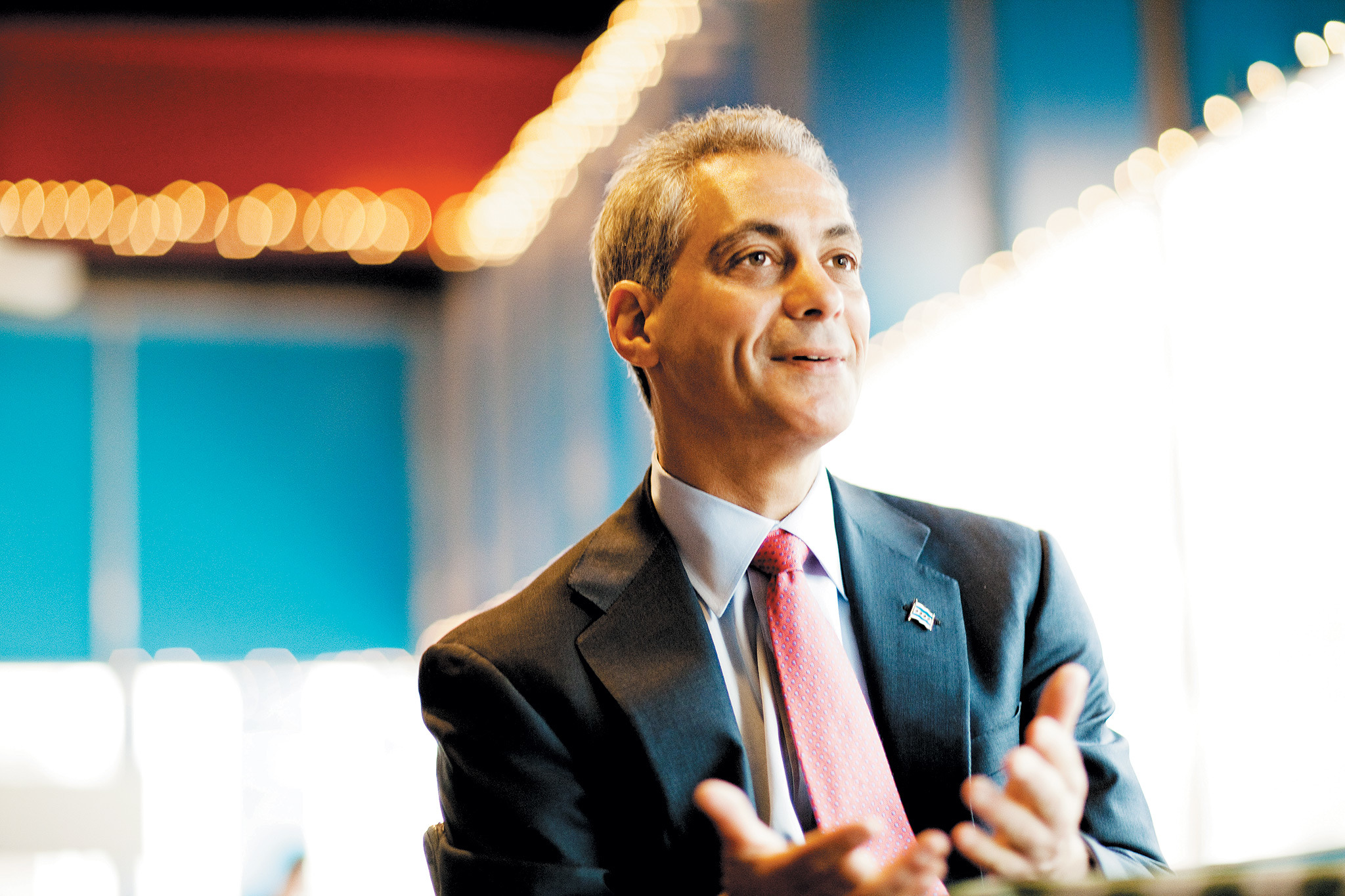 Rahm was forced into a runoff