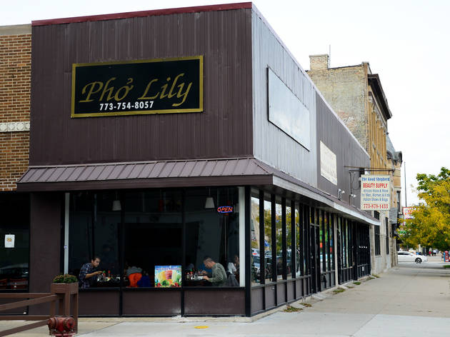 Pho Lily, which has terrific papaya salad and pho, is a great Vietnamese restaurant in Chicago.