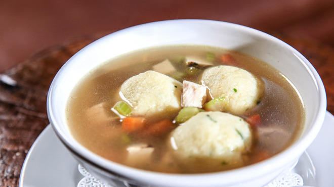 Rockit Bar and Grill is serving turkey matzo ball soup for Thanksgivukkuh.