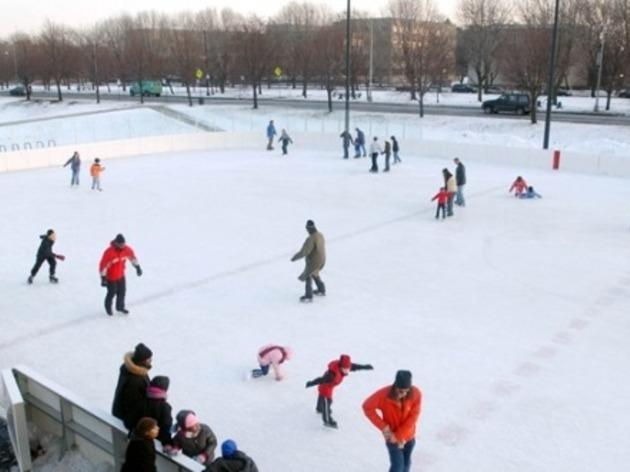Strap on some skates at the city's ice rinks