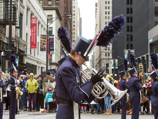 Thanksgiving Parade floats, balloons and marching units made their way down State Street on November 28, 2013.