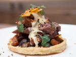 Carne asada sope at Takito KitchenTo call Takito merely a taqueria vastly understates chef David Dworshak's talents, which are evident in everything from the exemplary salsas to the sopes (available on the brunch menu): fried masa cakes piled with me...