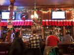 The Bar on Buena decks its halls for Christmas, with lights, stockings and more.