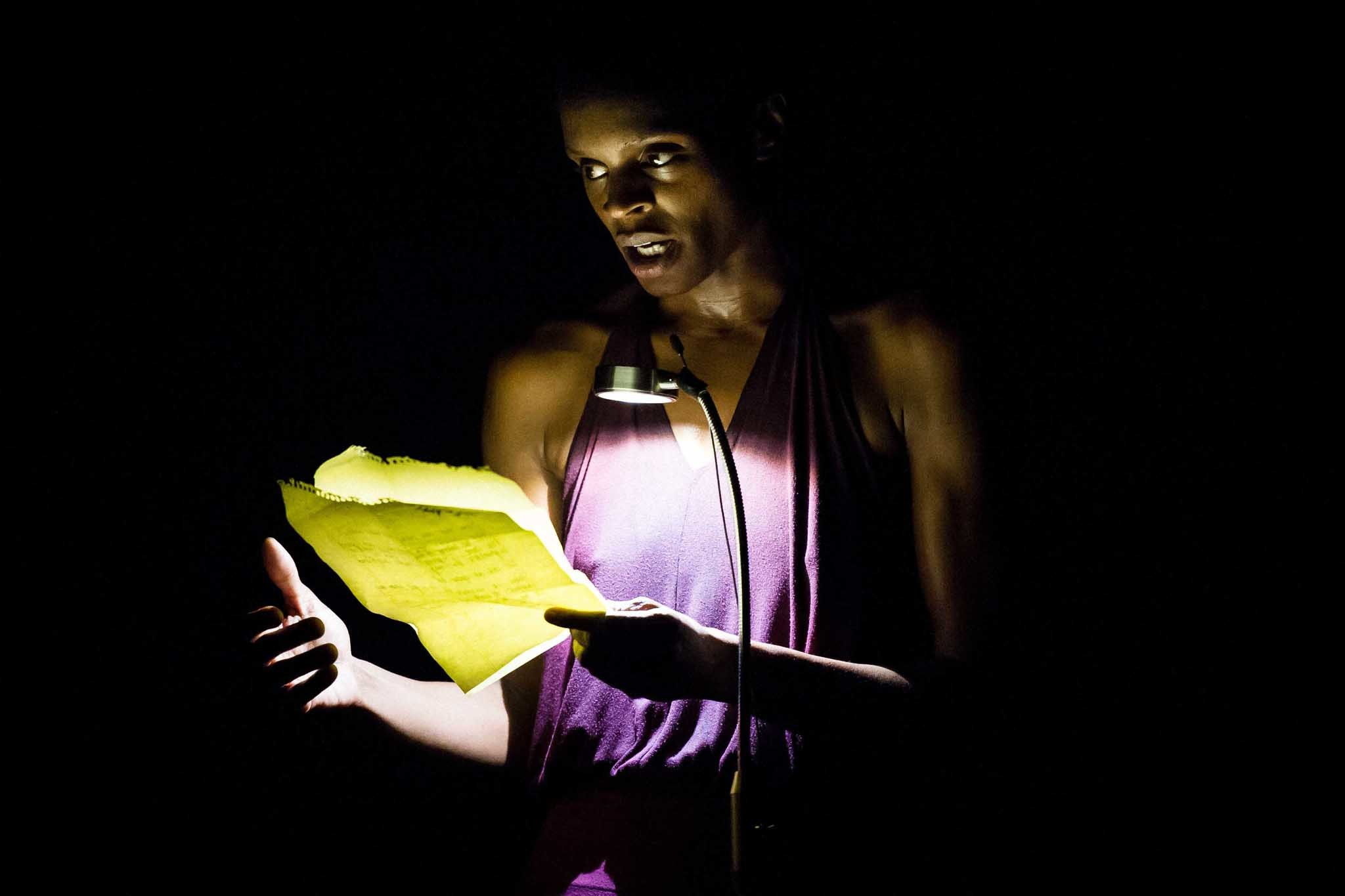 Okwui Okpokwasili performs Bronx Gothic at Danspace Project