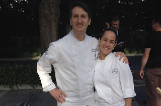 Chefs Vittorio Lucariello and Claudia Fossa.