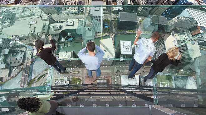 Willis Tower: Stand on The Ledge of the iconic skyscraper and peer down at streets and buildings in the Chicago Loop (while remaining calm).