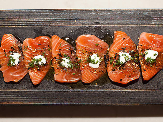 <p>Saikou salmon sashimi at Orsa &amp; Wintson</p>